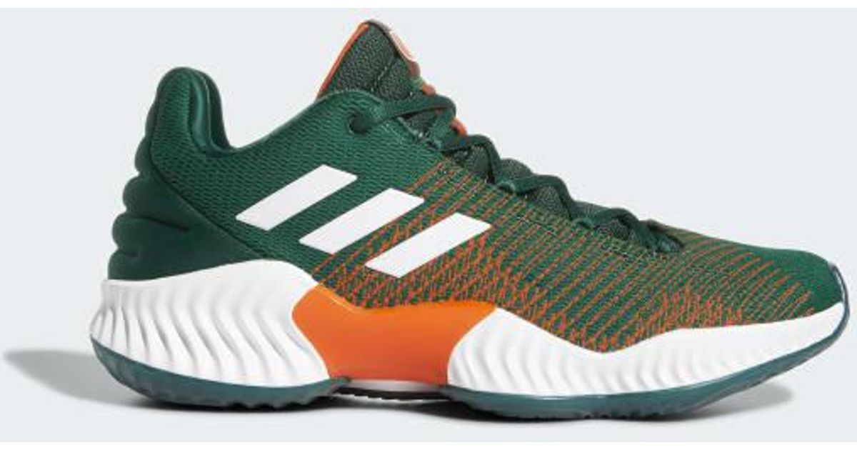 newest 6bea5 457e6 Lyst - adidas Pro Bounce 2018 Low Shoes in Green for Men