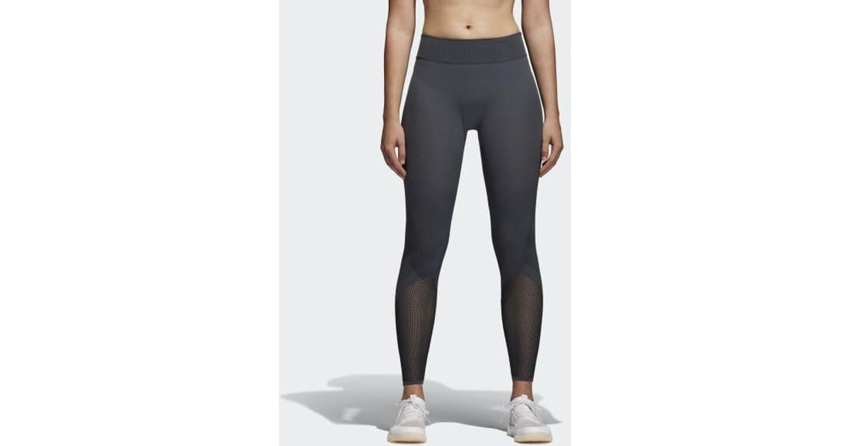 1ea621eabe1336 Lyst - adidas Warp Knit Tights in Gray