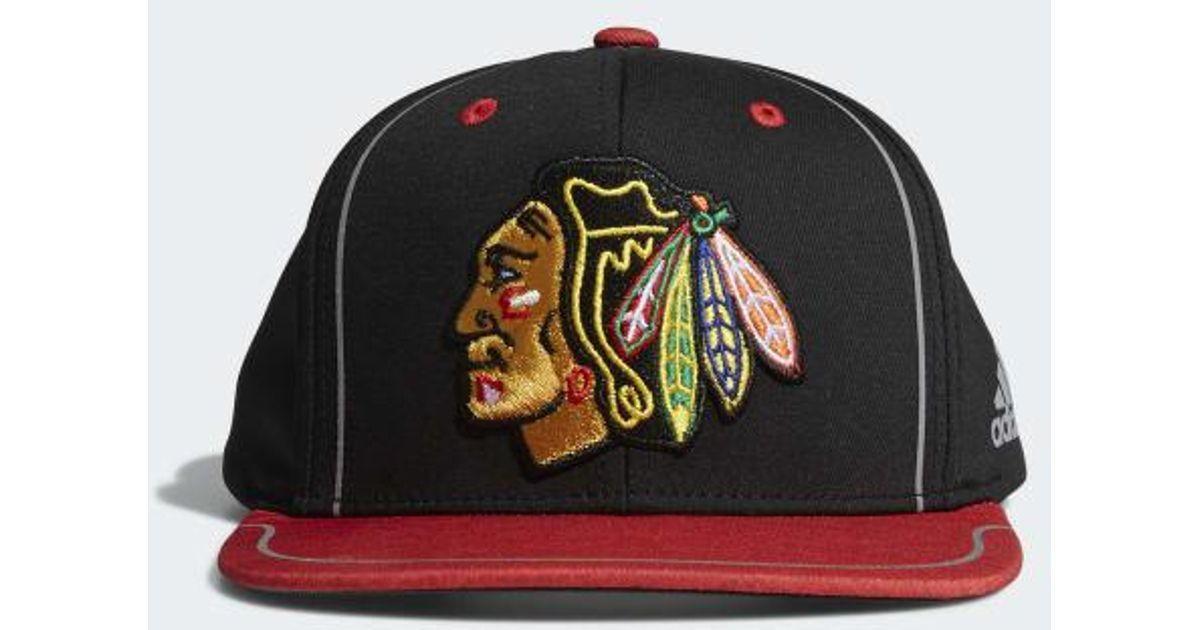 dc879af8803 Lyst - adidas Blackhawks Flat Brim Hat for Men