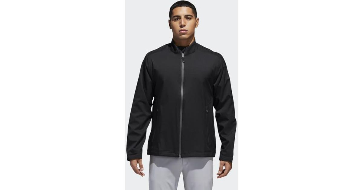9e2d3c957809 Lyst - Adidas Climaproof Heathered Rain Jacket in Black for Men
