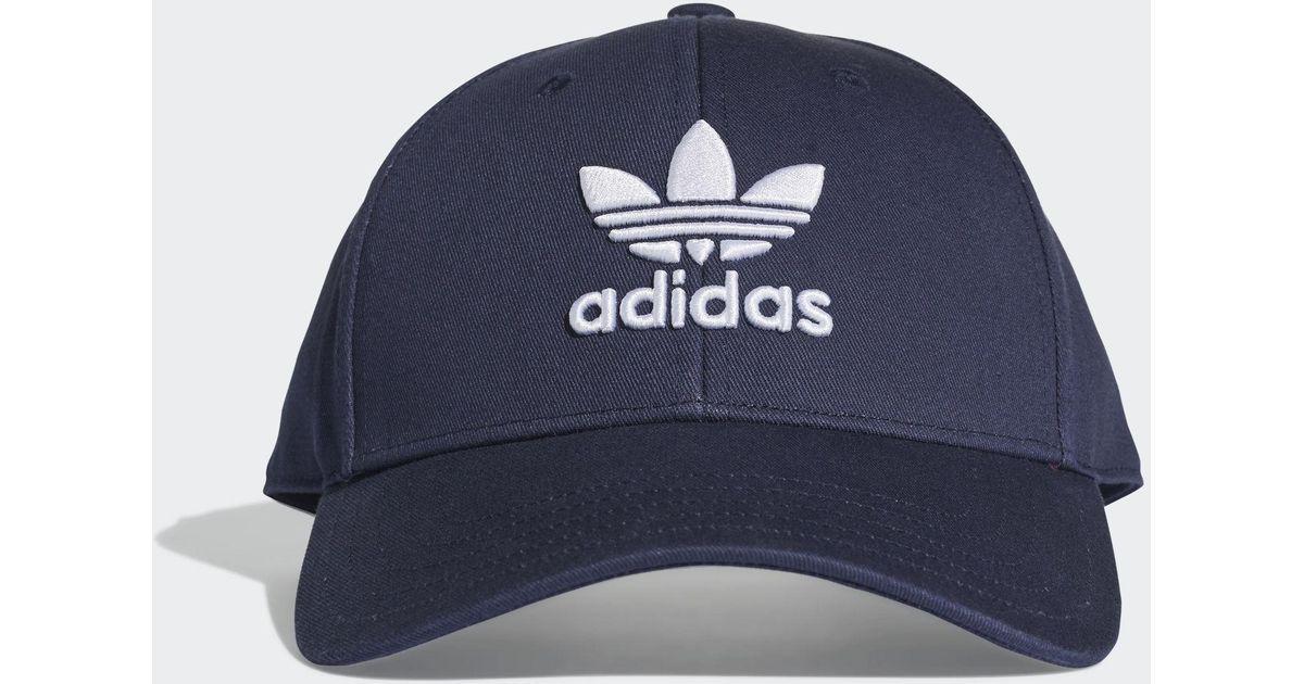 e11e3373c2c adidas Trefoil Baseball Cap in Blue for Men - Lyst