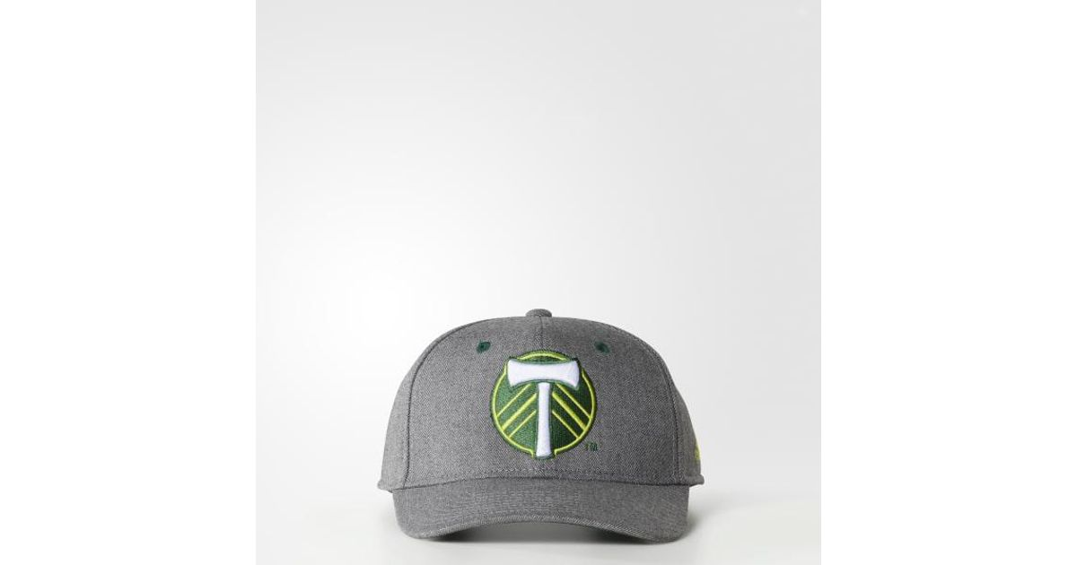 cb50f513139 Lyst - adidas Portland Timbers Structured Hat in Gray for Men