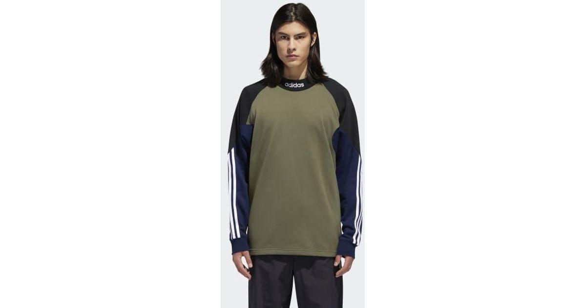 0dd39b93146 Lyst - adidas Goalie Fleece Top in Green for Men