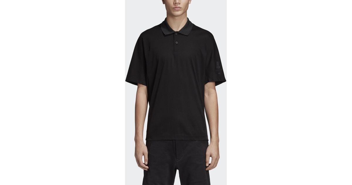0d02b6e9 adidas Y-3 New Classic Polo Shirt in Black - Lyst