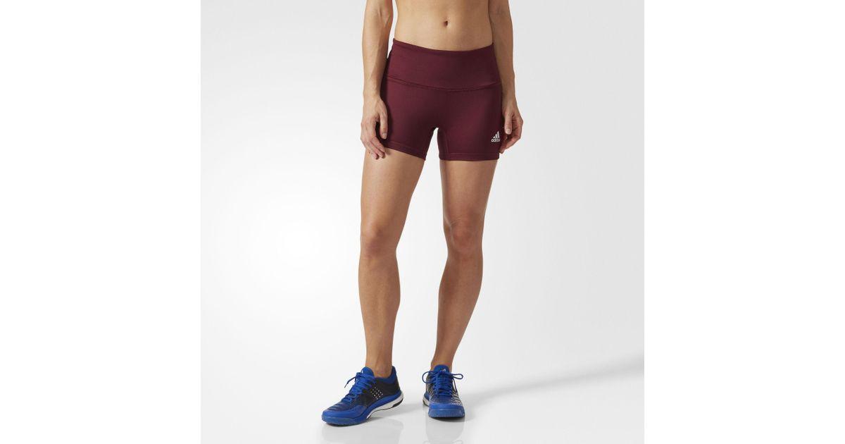 Adidas Brown Four inch Short Tights Lyst