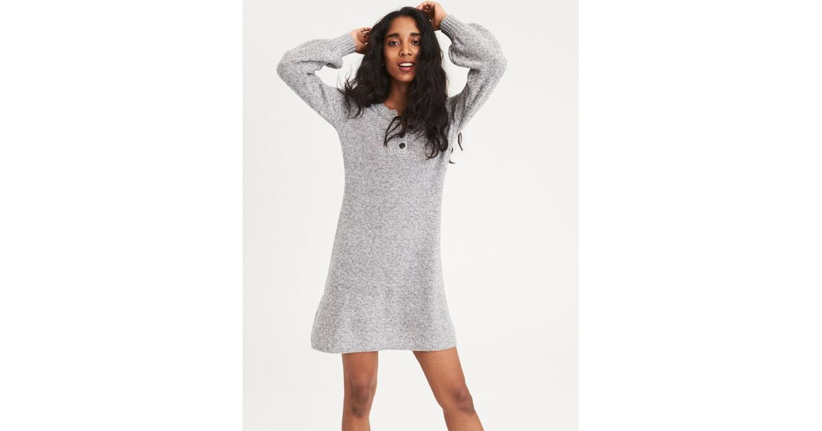 552eac008ee Lyst American Eagle Ae Henley Sweater Dress In Gray. American Eagle Sweater  Dress. Ae Ahh Mazingly Soft Ribbed Bodycon Sweater Dress Women S Pink Xl