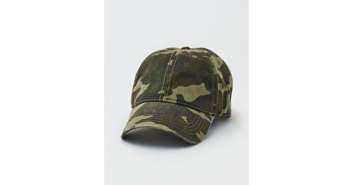 162cfd2f66da8 American Eagle Ae Blank Camo Dad Hat in Green for Men - Lyst