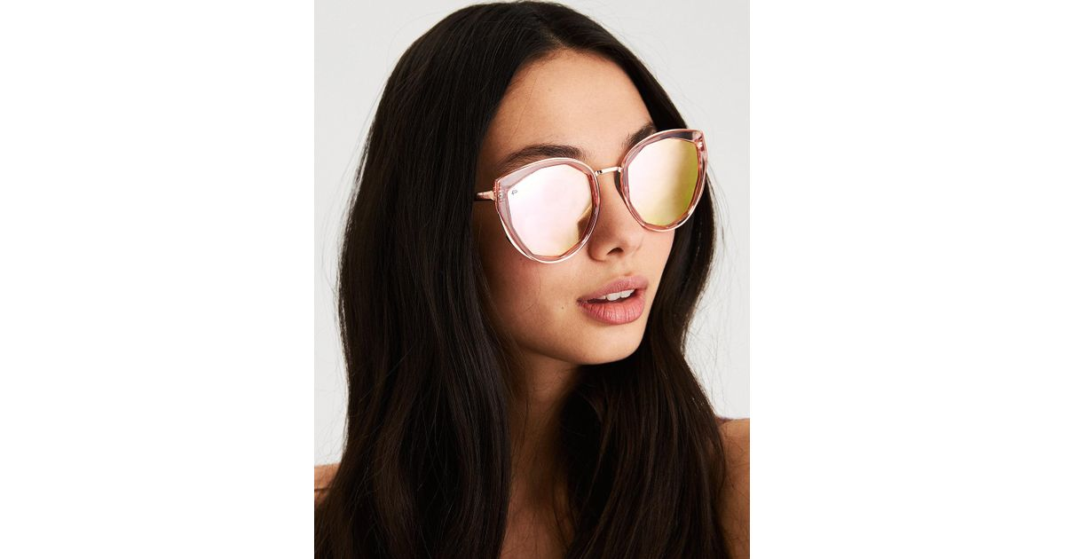 015606df37 American Eagle Privé Revaux The Artist Sunglasses in Red - Lyst