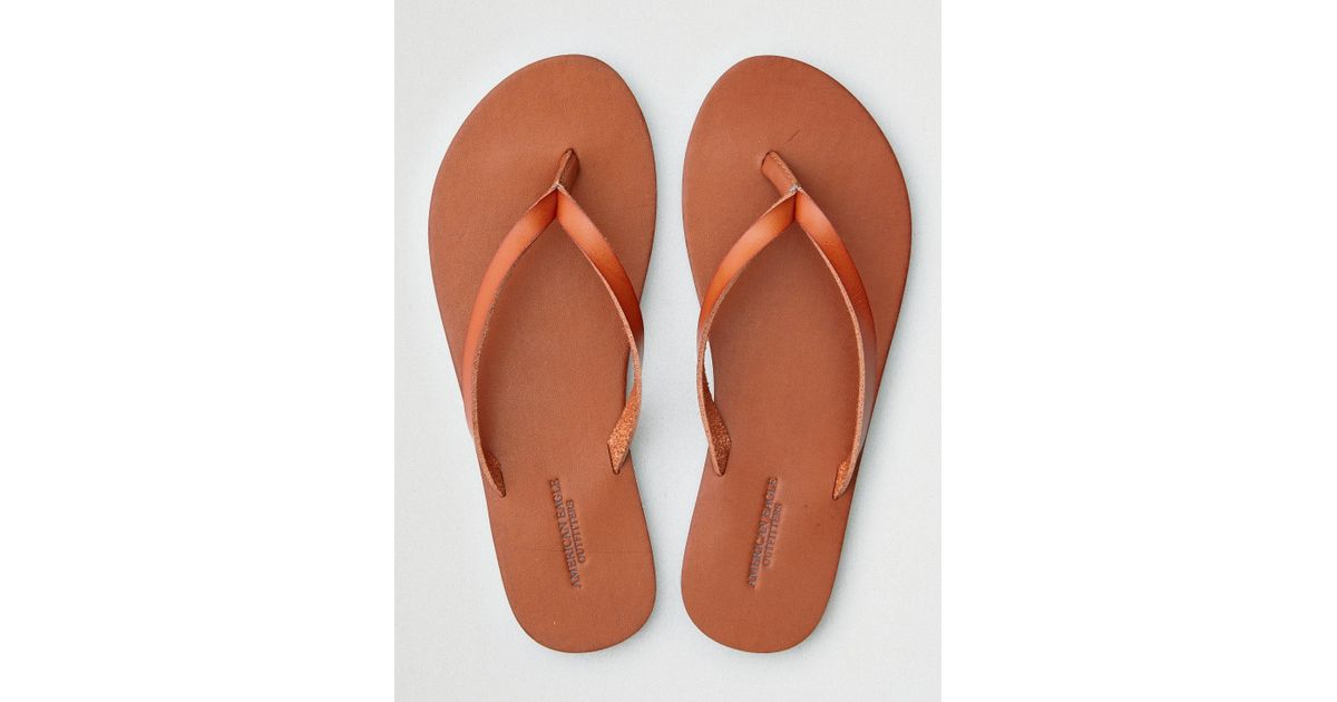 5caf8b55f74 Lyst - American Eagle Simple Thong Flip Flop in Brown