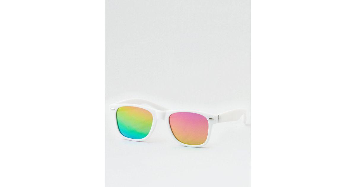 45c602277b American Eagle White Rainbow Classics Sunglasses in White for Men - Lyst
