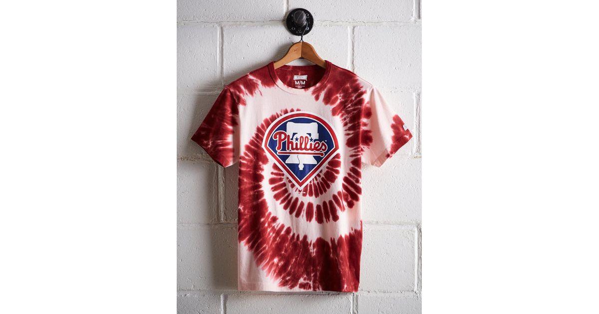 4a26b9a3 Lyst - Tailgate Men's Philadelphia Phillies Tie-dye T-shirt in Red for Men