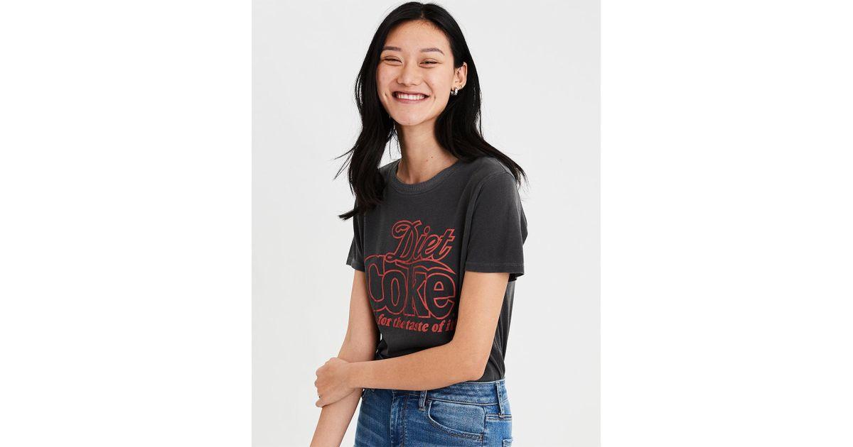 da306940b American Eagle Ae Diet Coke Graphic T-shirt in Black - Lyst