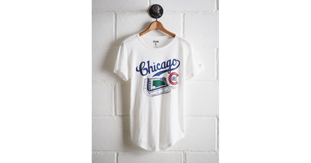 91edab8cf Tailgate Women's Chicago Wrigley Field T-shirt in White - Lyst