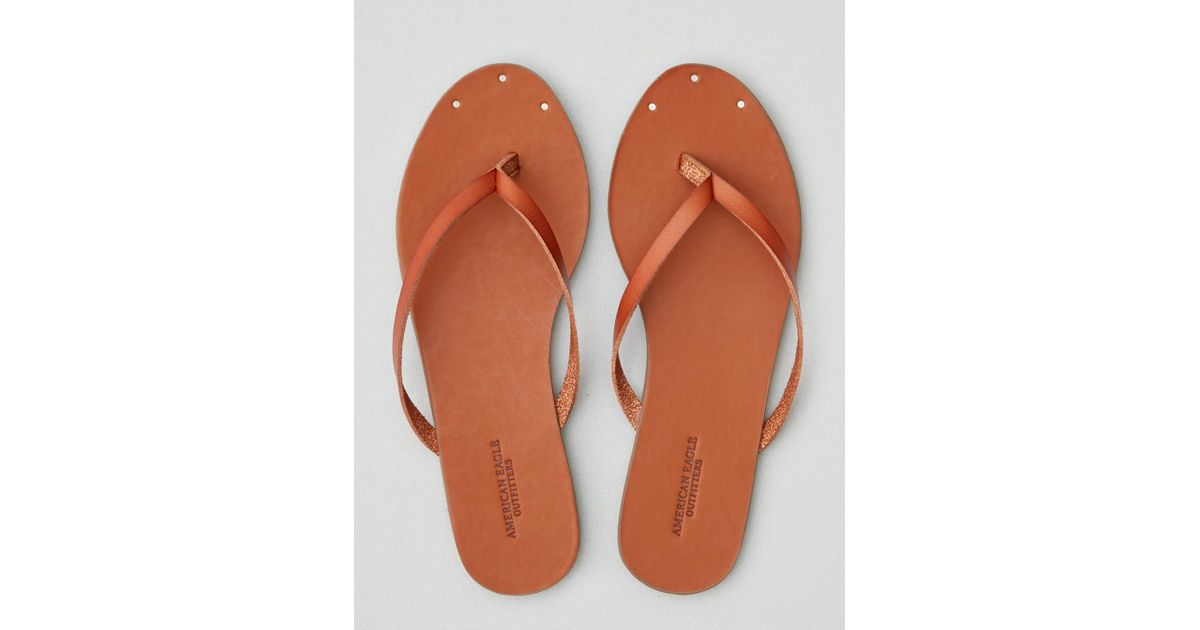 98d3f08a158 Lyst - American Eagle Flip Flop in Brown