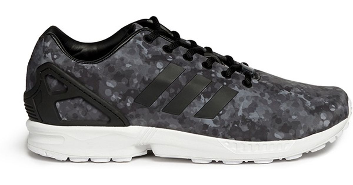 d4212ced9d7c Lyst - White Mountaineering  zx Flux  Snow Camouflage Sneakers in Black for  Men