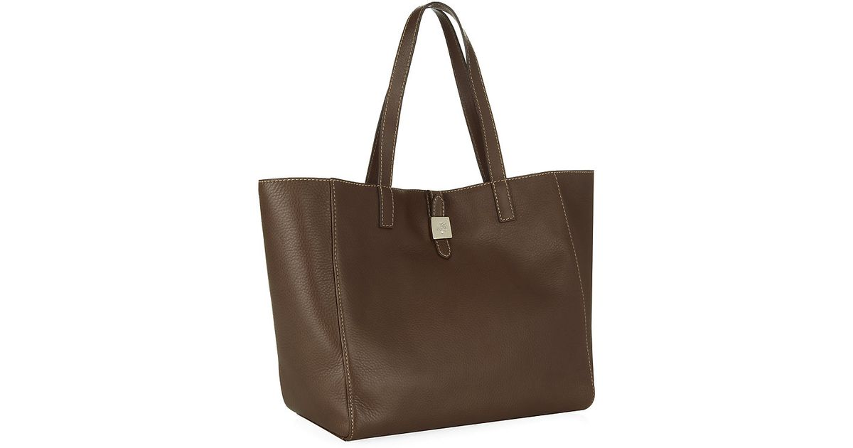 d6e034600354 ... 50% off mulberry tessie tote in brown lyst e7a93 96c89