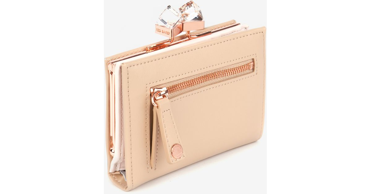 ce851f8602ec6 Lyst - Ted Baker Small Square Crystal Purse in Natural