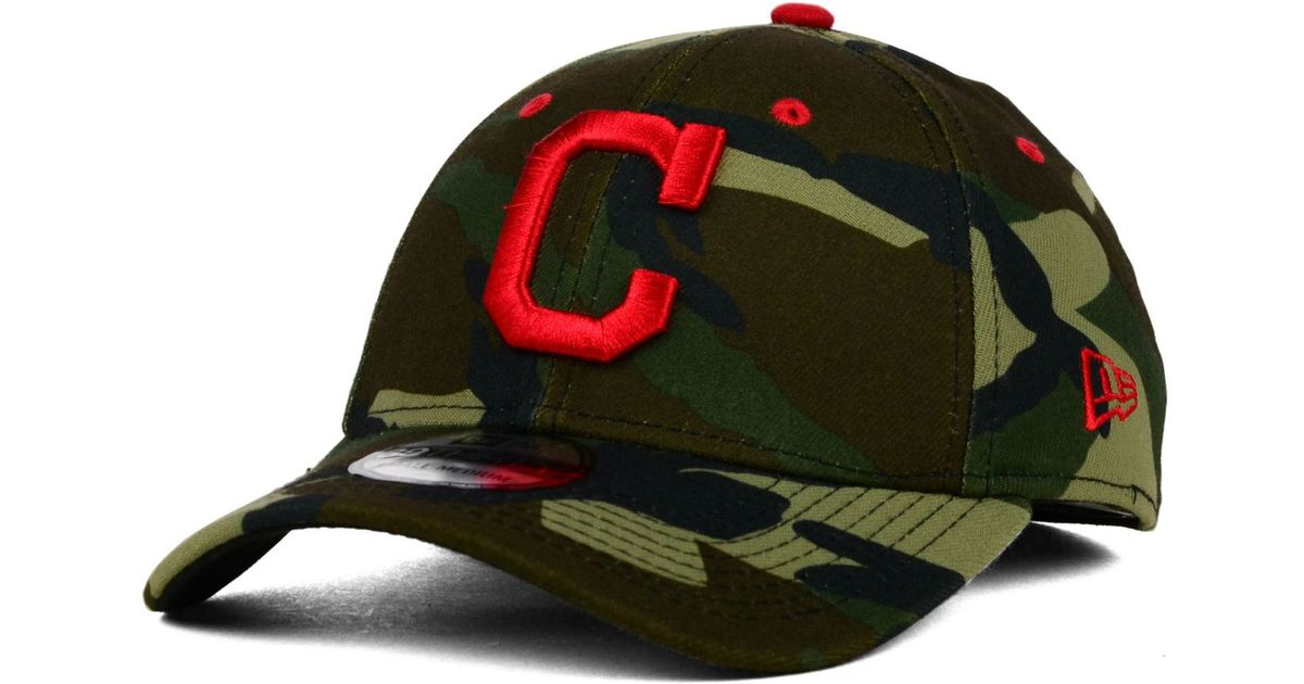 Lyst - KTZ Cleveland Indians Camo Classic 39thirty Cap in Green for Men 45f80165298