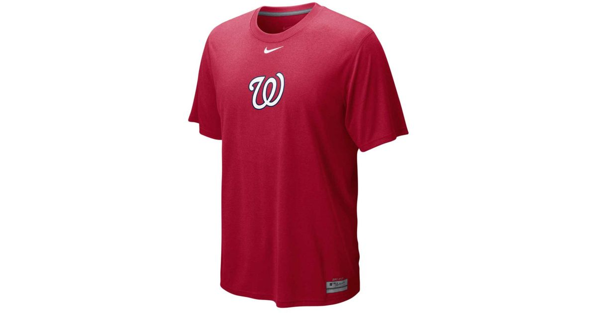 816d2a54e725f1 Lyst - Nike Men's Washington Nationals Dri-fit Logo Legend T-shirt in Red  for Men