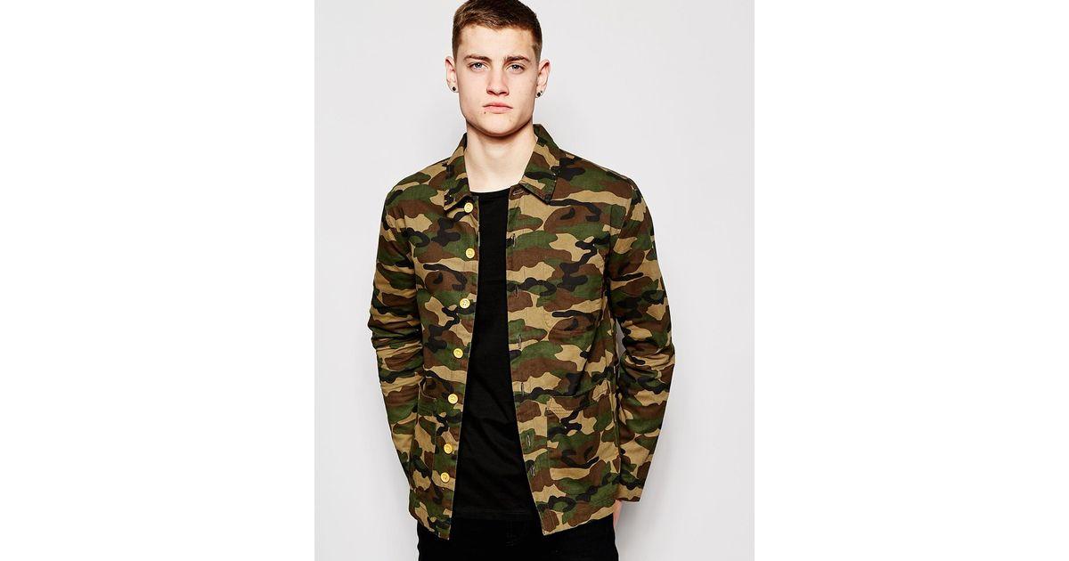 529ebc0728451 Bellfield Camo Jacket in Green for Men - Lyst
