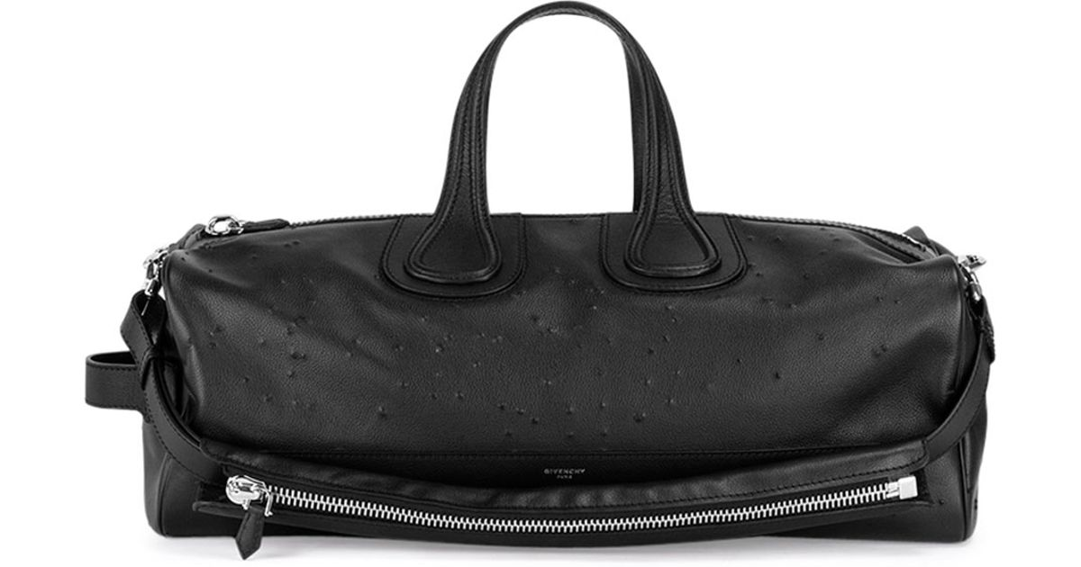 Givenchy Nightingale Men S Distressed Duffel Bag In Black