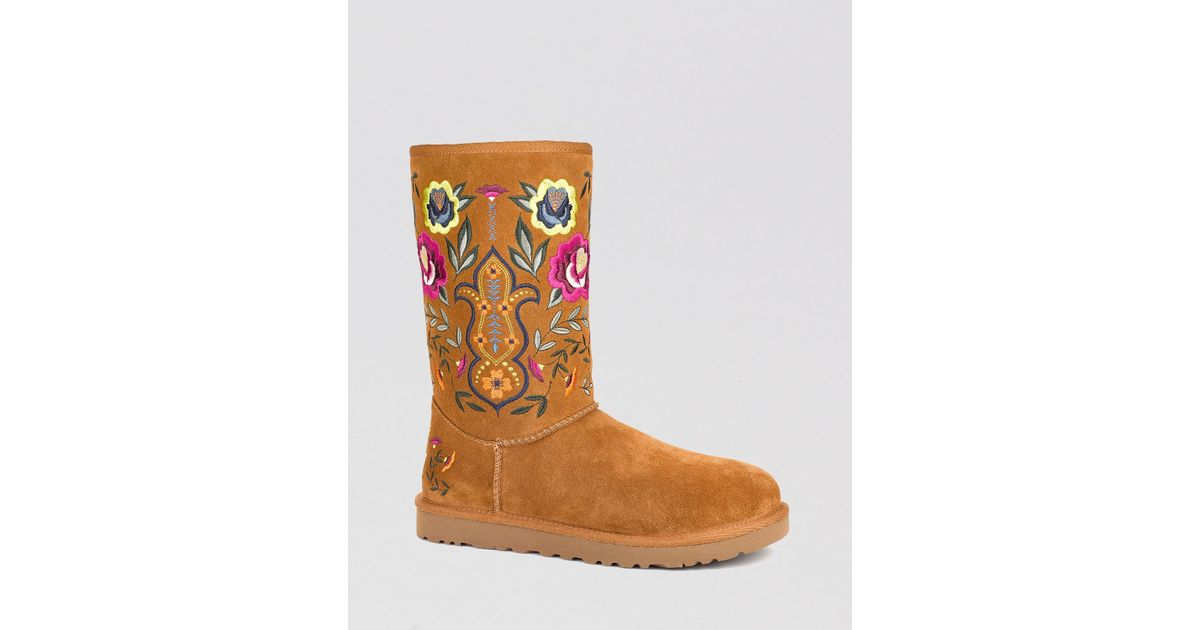 Lyst - Ugg Ugg® Australia Cold Weather Boots - Juliette Embroidered in Brown