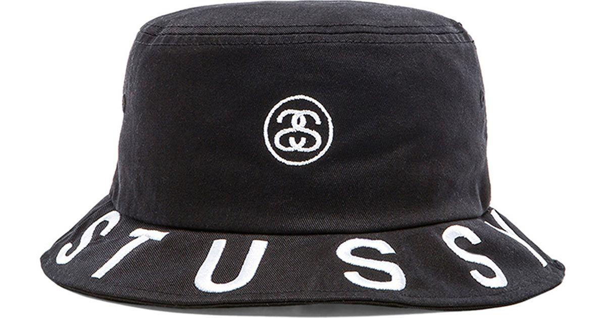 Lyst - Stussy Tribe Brim Bucket Hat in Black for Men df5cc8669915