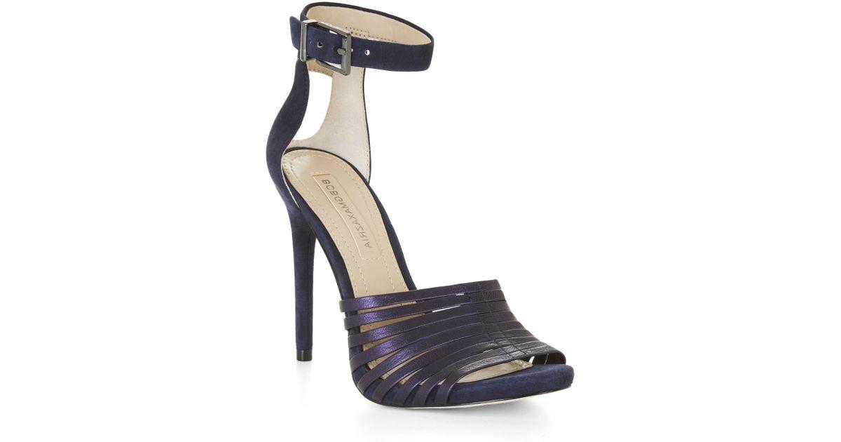 692c0402247 Lyst - BCBGMAXAZRIA Dena High-heel Strappy Sandal in Blue