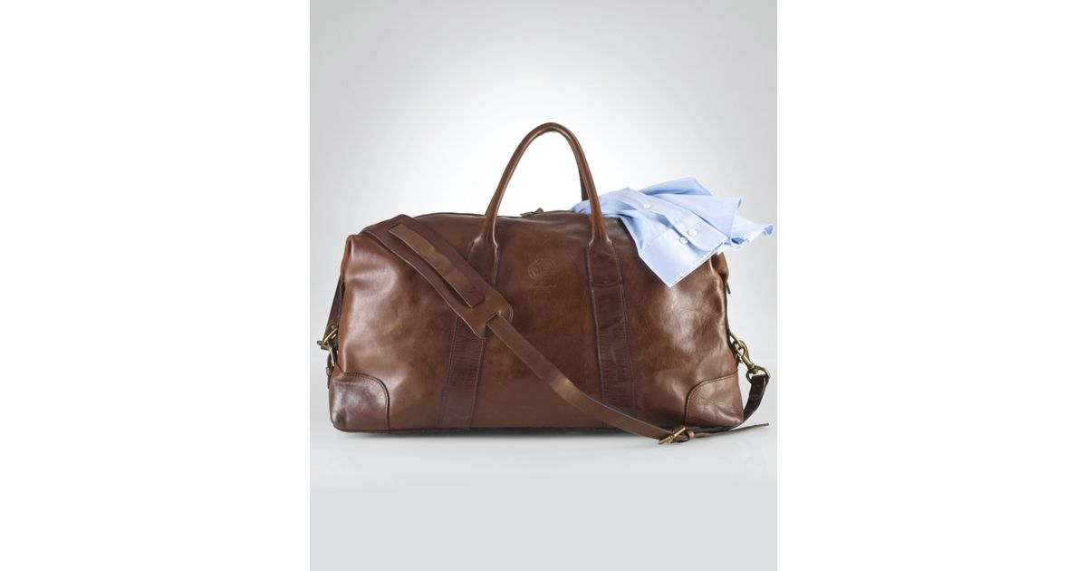 4c6c1871d Polo Ralph Lauren Core Leather Duffle Bag in Brown for Men - Lyst