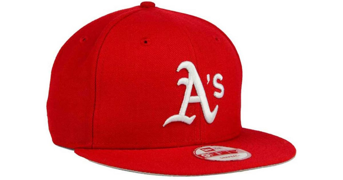 quality design 84c99 6f5c2 KTZ Oakland Athletics C-dub 9fifty Snapback Cap in Red for Men - Lyst