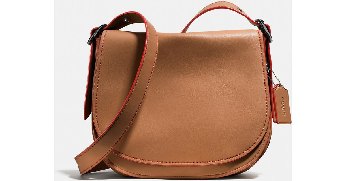 b8a1ea4d346d Lyst - COACH Saddle Bag In Glovetanned Leather in Brown