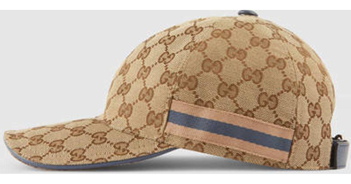 Lyst - Gucci Original Gg Baseball Hat in Natural 147f16249ab