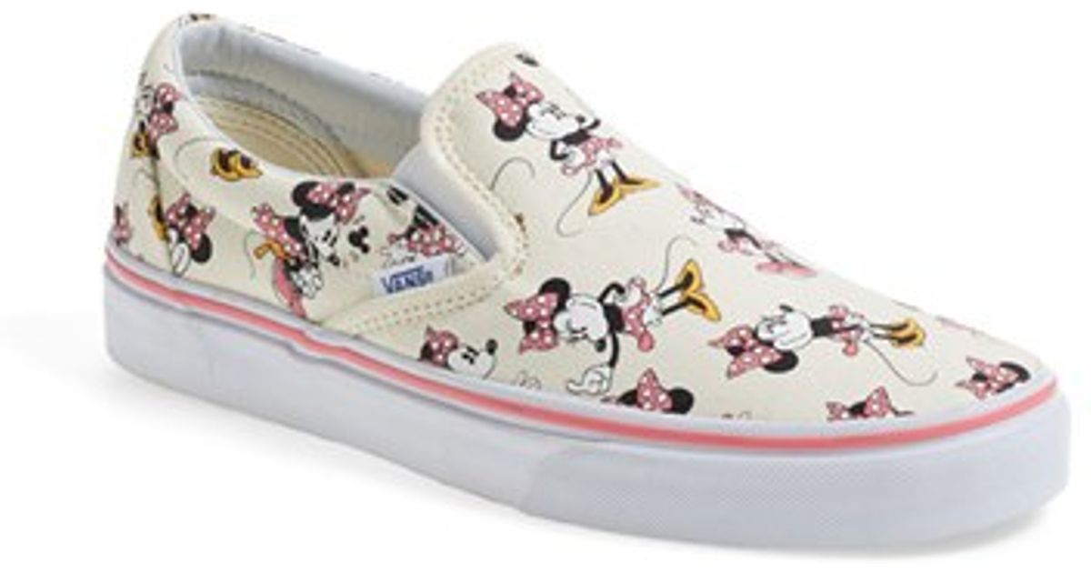 Lyst - Vans  Classic - Disney  Slip-On in Gray 9a142649f