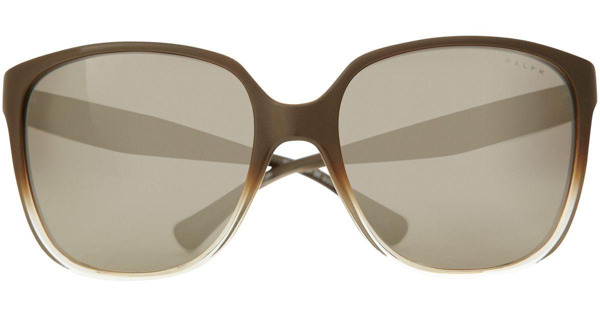 904ca72195 Ralph Ra5173 Square Framed Sunglasses in Green - Lyst