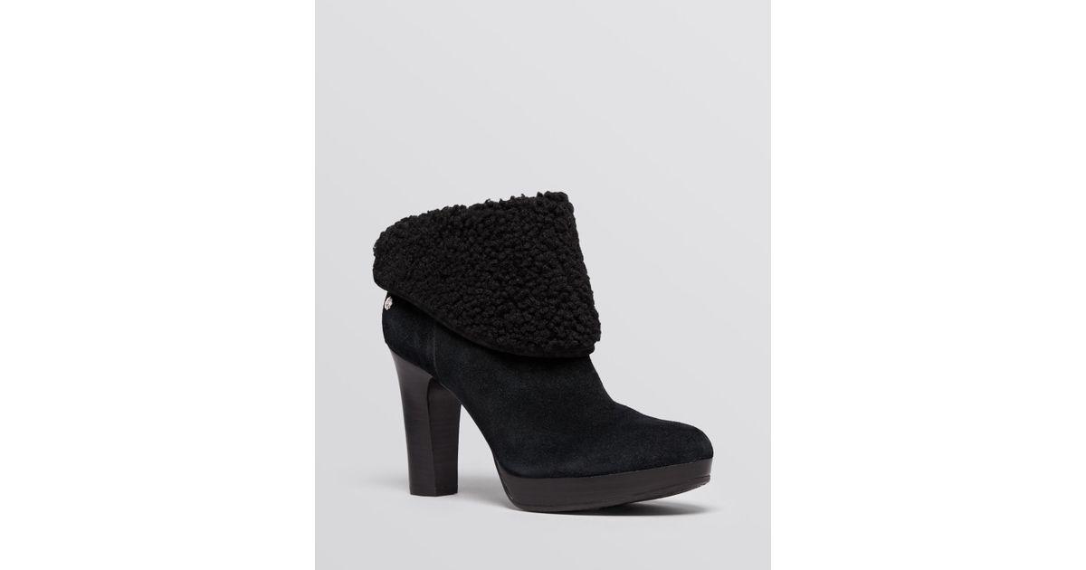 e85bf4930f99 Lyst - UGG Ugg® Australia Platform Booties - Dandylion Ii High Heel in Black