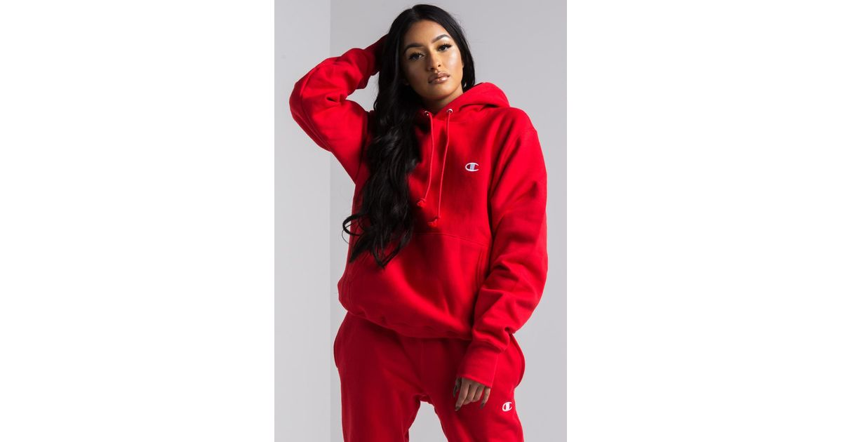 find lowest price best sale for whole family Akira Red Champion Women's Reverse Weave Pullover Hoodie