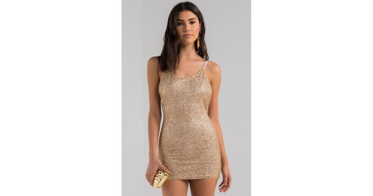 4752b0f04ef9 AKIRA Make It A Million Glitter Mini Dress in Metallic - Lyst