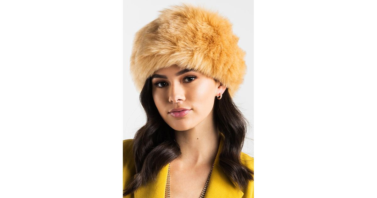 Lyst - AKIRA Baby It s Cold Outside Faux Fur Headband in Natural ff93932f217