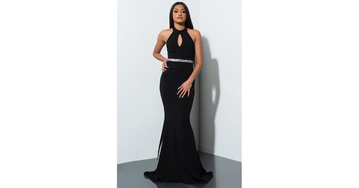 78641ae8a3b7 Lyst - AKIRA Hit The Jackpot Rhinestone Maxi Dress in Black