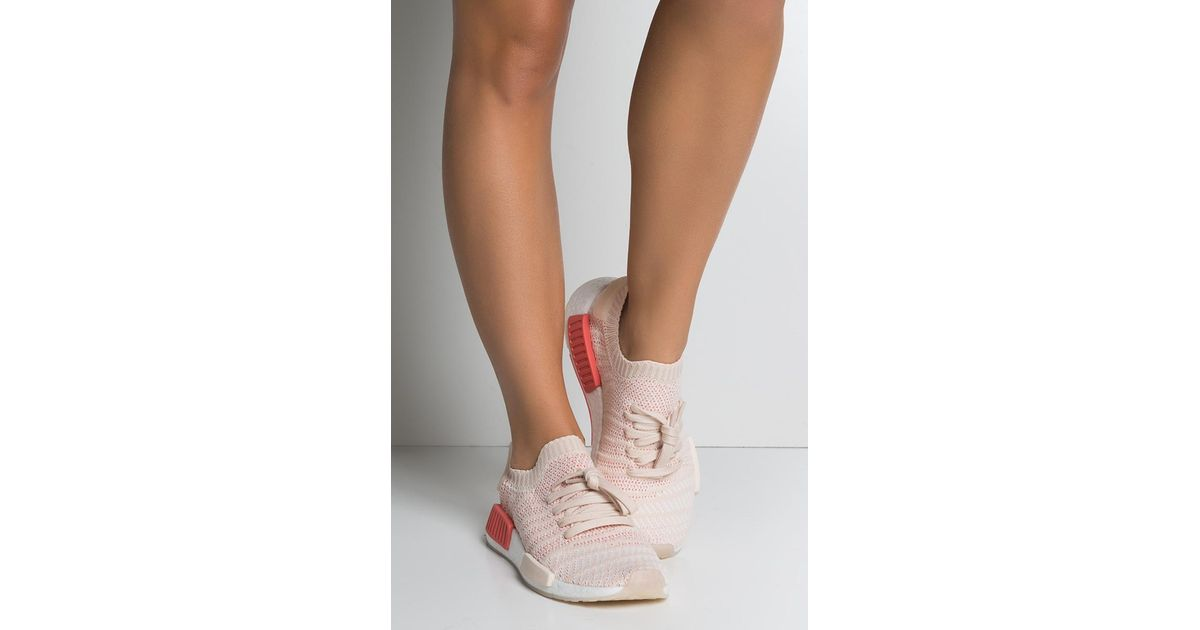 6903c673b4 adidas Womens Nmd R1 Stlt Primeknit in White - Lyst