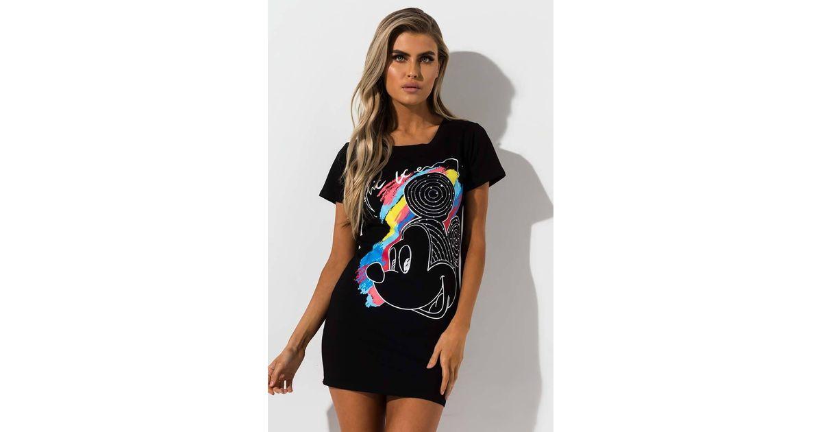 5756bf9a AKIRA Rainbow T Shirt Dress in Black - Lyst