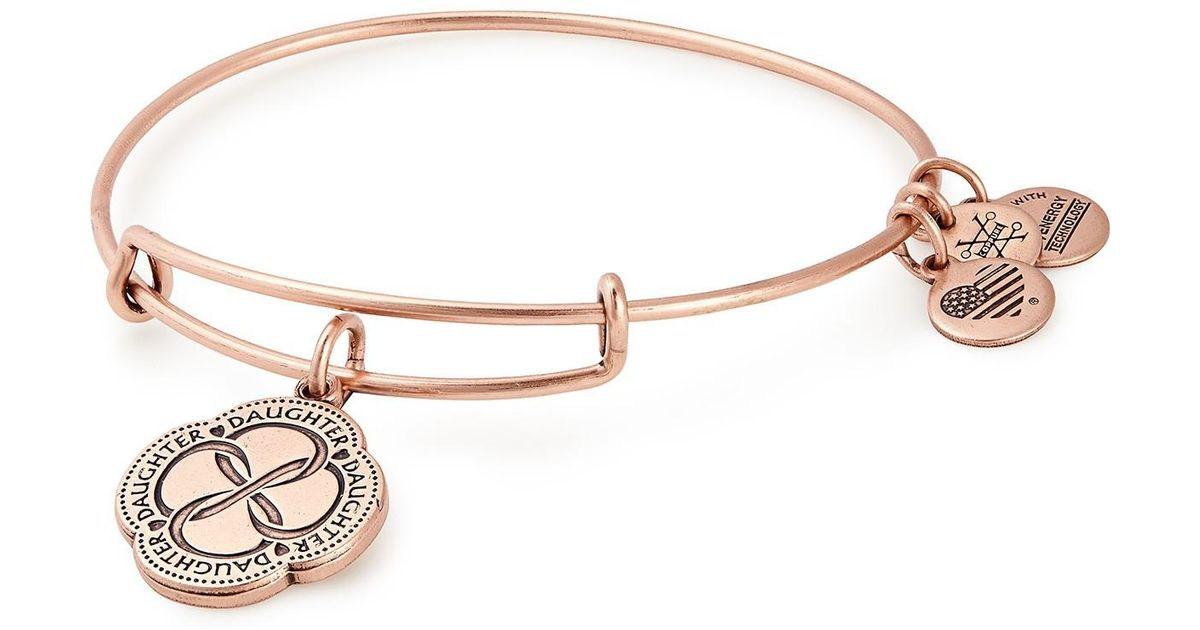 eb4407abccb1ee ALEX AND ANI Daughter's Love Charm Bangle in Metallic - Lyst