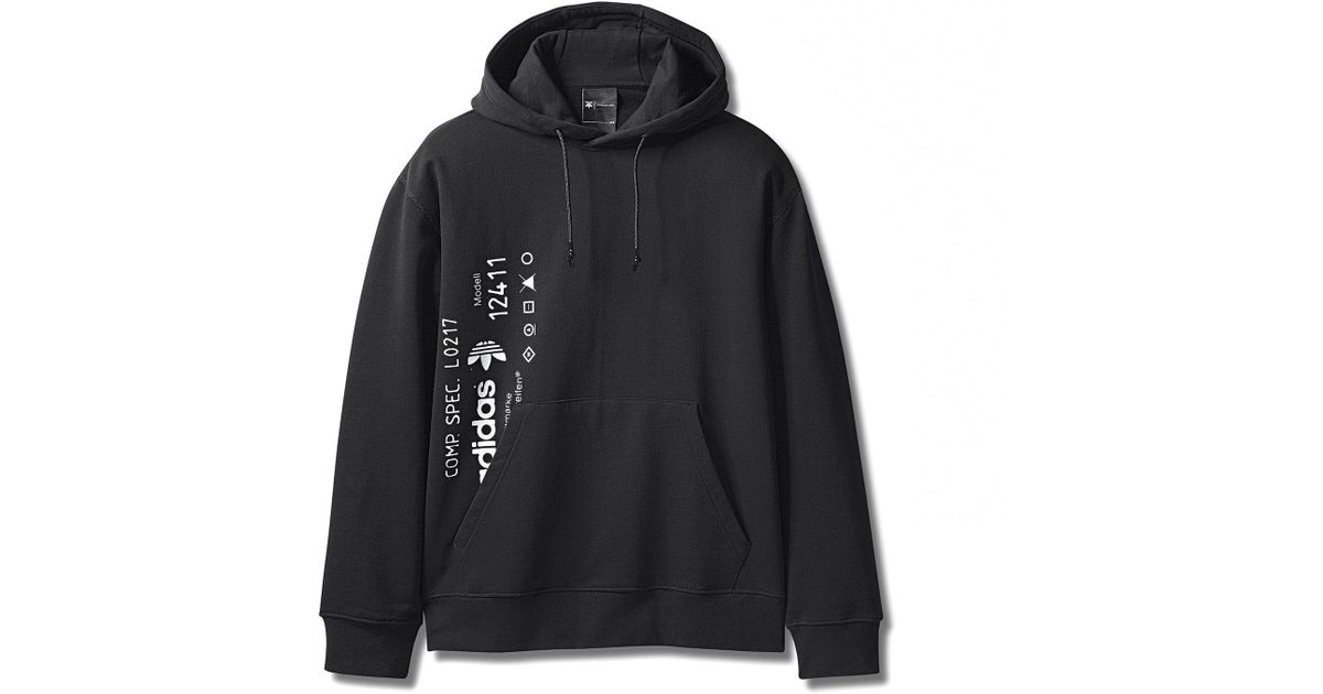super popular 481d5 f0ff0 Alexander Wang Adidas Originals By Aw Graphic Hoodie in Black for Men - Lyst