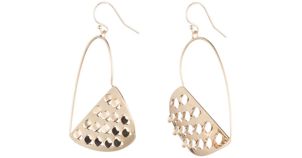 Alexis Bittar Half Heart Grater Wire Earrings vPWmr0sD