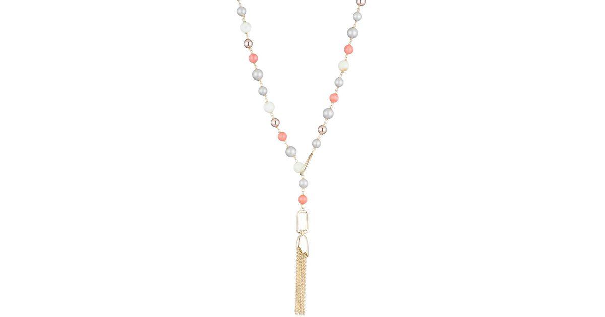 Alexis Bittar Beaded Lariat Tassel Necklace SEizDsi