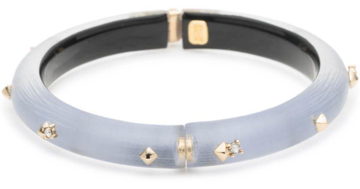 Alexis Bittar Golden Studded Hinge Bracelet, Golden