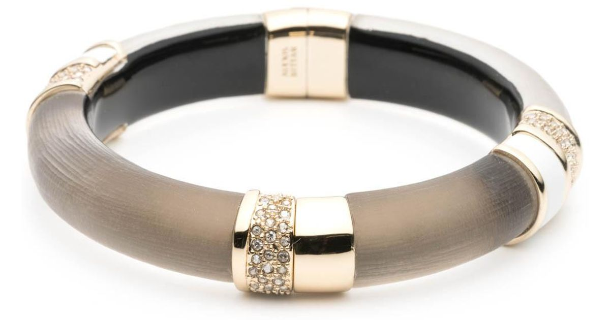 Alexis Bittar Crystal Encrusted Glitter Segmented Bracelet ZwIkdf