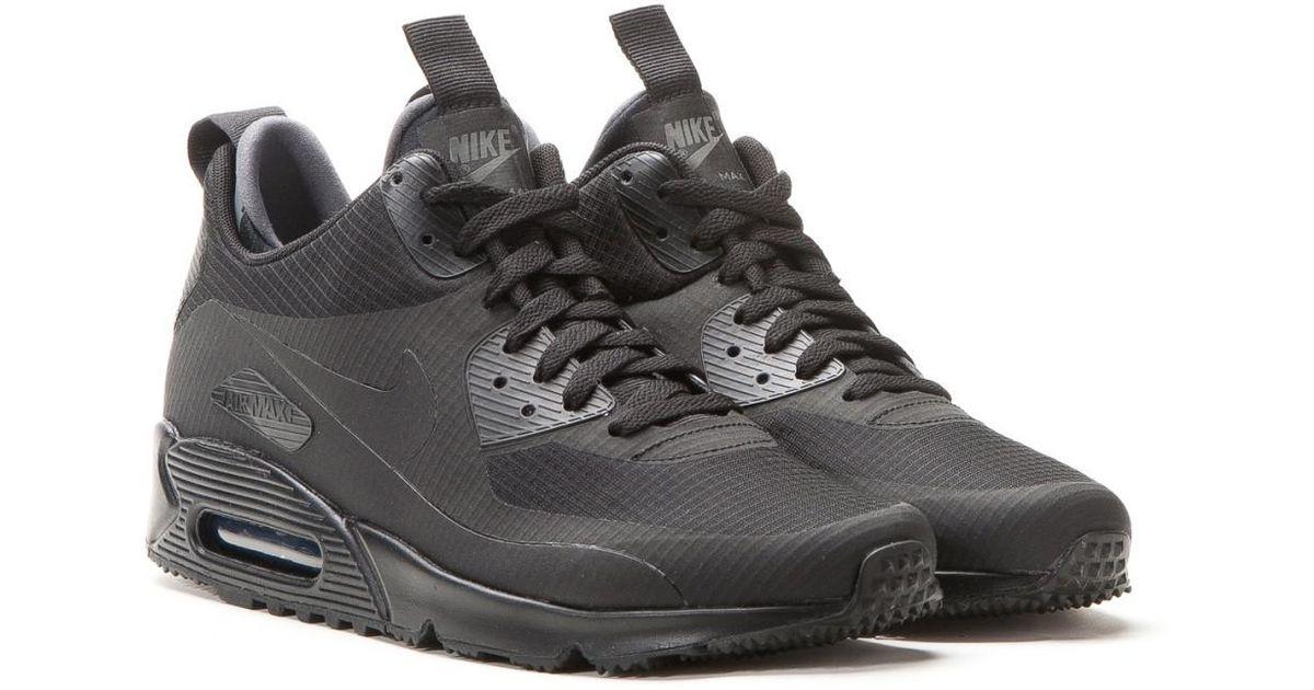 3bab316eb1f Nike Nike Air Max 90 Mid Winter in Black for Men - Lyst