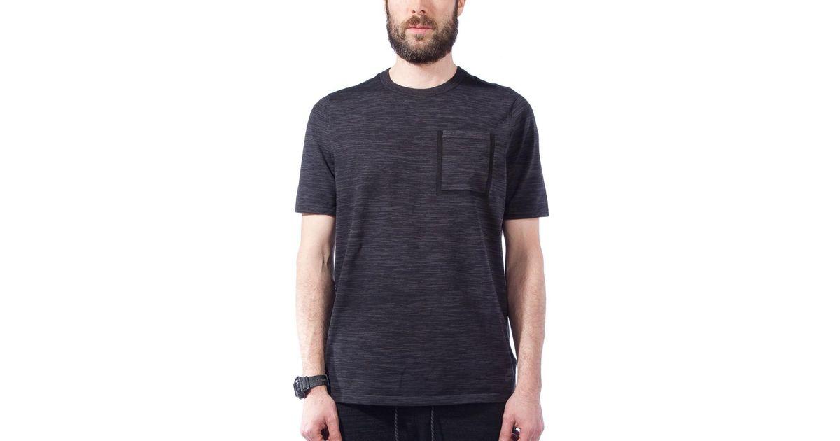 929374c0b Nike Nike Tech Knit Pocket T-shirt in Black for Men - Lyst