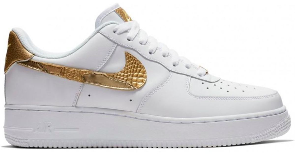 3f2417635 ... authentic lyst nike nike air force 1 low cr7 golden patchwork in white  65f81 80f51